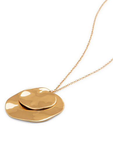 Gorjana Double Pendant Necklace-GOLD-One Size