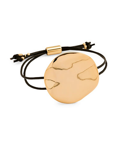 Gorjana Chloe Leather Bracelet-GOLD-One Size