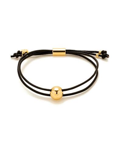 Gorjana Newport Adjustable Leather Bracelet-GOLD-One Size