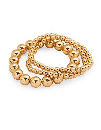 Gorjana Three-Piece Beaded Bracelet Set-GOLD-One Size