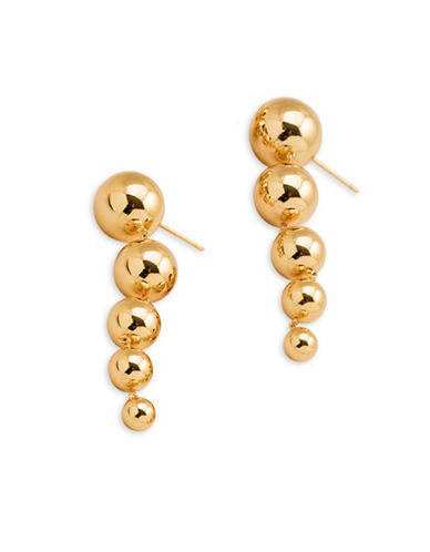 Gorjana Tiered Drop Earrings-GOLD-One Size