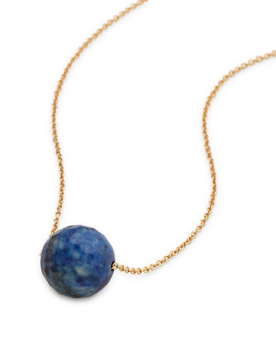 Gorjana Power Gemstone Lapis Pendant Necklace-GOLD-One Size