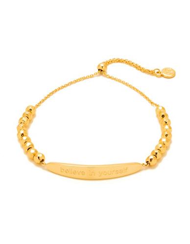 Gorjana Intention Believe in Yourself Adjustable Bracelet-GOLD-One Size