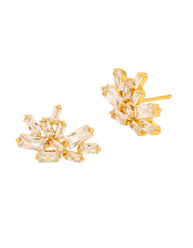 Gorjana Amara Crystal Cluster Large Stud Earrings-GOLD-One Size