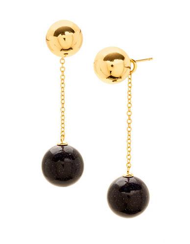 Gorjana Newport Double Drop Earrings-BLUE-One Size