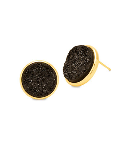 Gorjana Astoria Large Stud Earrings-BLACK-One Size