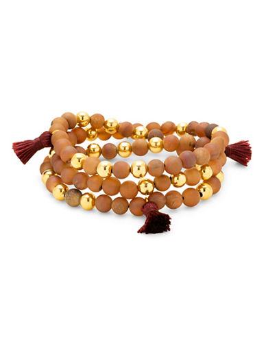 Gorjana Hannah Druzy Tassel Wrap Bracelet-RED-One Size
