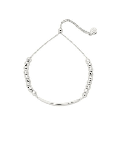 Gorjana Believe in Yourself Silver Intention Bracelet-SILVER-One Size