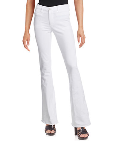 Mih Jeans Marrakesh High-Rise Flare Jeans-WHITE-26