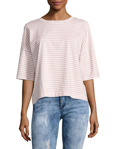 Mih Jeans Oversized Stripe T-Shirt-PINK-Medium 89102542_PINK_Medium