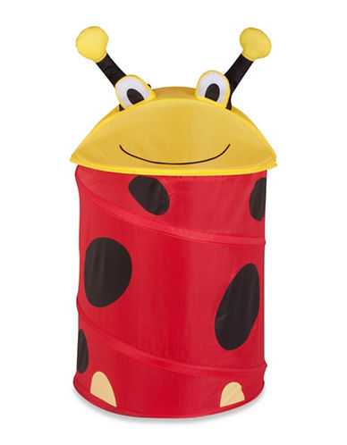 Honey Can Do Lady Bug Pop-Up Hamper-RED-Medium