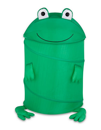 Honey Can Do Frog Pop-Up Hamper-GREEN-Large