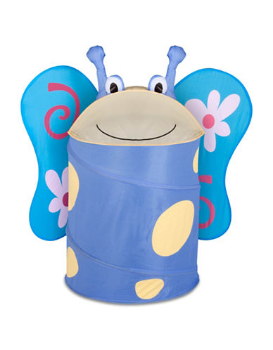 Honey Can Do Butterfly Pop-Up Hamper-BLUE-Large