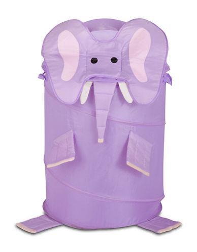 Honey Can Do Elephant Pop-Up Hamper-PURPLE-Large