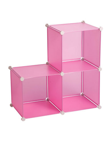 Honey Can Do Pack of Three Storage Cubes-PINK-One Size