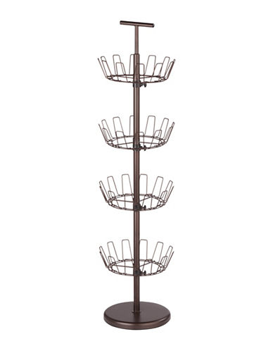 Honey Can Do Four-Tier Bronze Shoe Tree-BRONZE-One Size