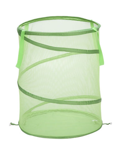 Honey Can Do Large Pop Open Hamper-GREEN-One Size