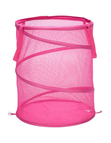 Honey Can Do Large Pop Open Hamper-PINK-One Size