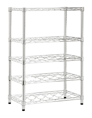 Honey Can Do Four-Tier Adjustable Steel Wine Rack-CHROME-One Size