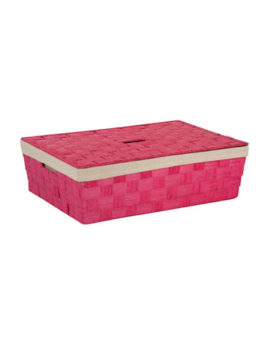 Honey Can Do Large Under-The-Bed Storage Basket-PINK-One Size