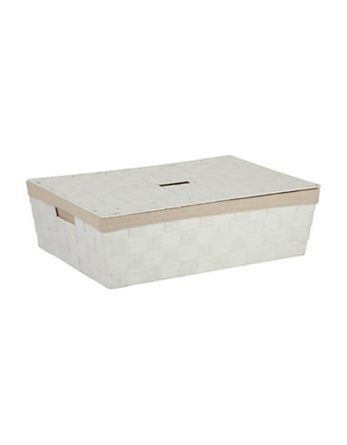 Honey Can Do Large Under-The-Bed Storage Basket-WHITE-One Size