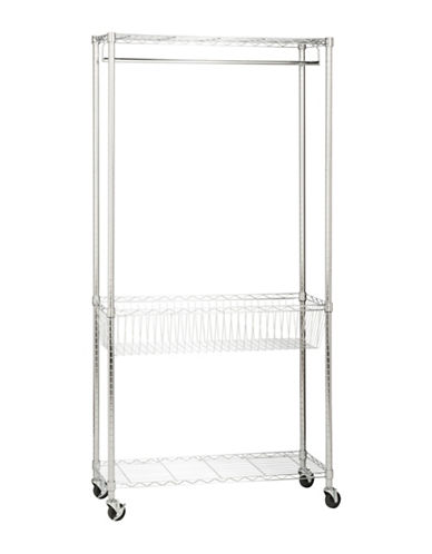Honey Can Do Steel Rolling Laundry Station-CHROME-One Size
