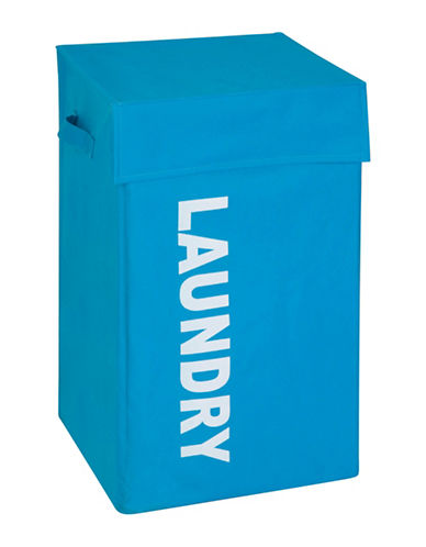 Honey Can Do Laundry Graphic Hamper-BLUE-One Size