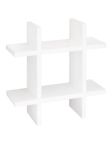 Honey Can Do Number Sign Wall Shelf-WHITE-One Size