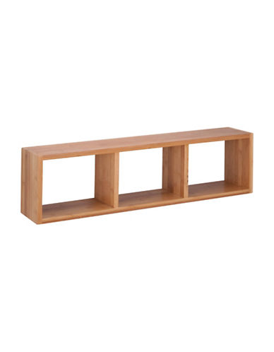 Honey Can Do Bamboo Triple Cube Wall Shelf-BAMBOO-One Size