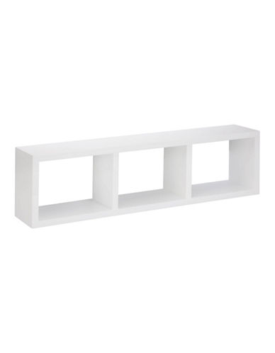 Honey Can Do Triple Cube Wall Shelf-WHITE-One Size