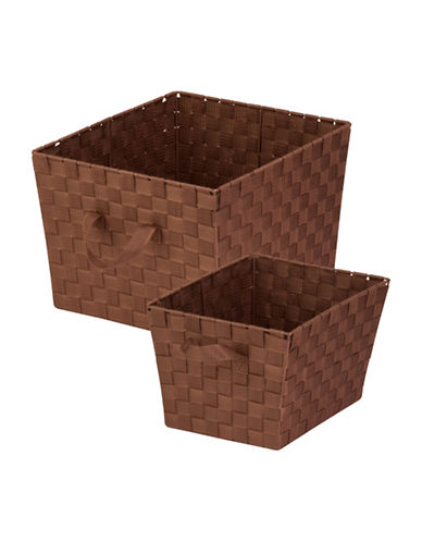 Honey Can Do Two-Piece Woven Basket Set-BROWN-One Size