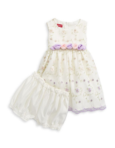 Princess Faith 3D Floral Illusion Dress-NATURAL-12 Months