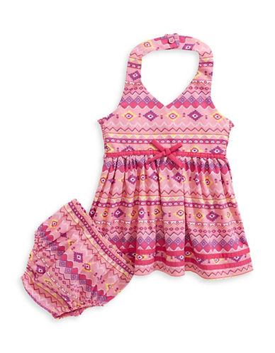 Samara Western Halter Dress-PINK-24 Months
