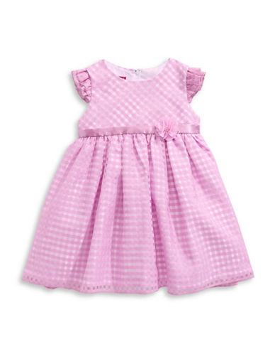 Princess Faith Gingham Cap-Sleeved Dress-PURPLE-12 Months