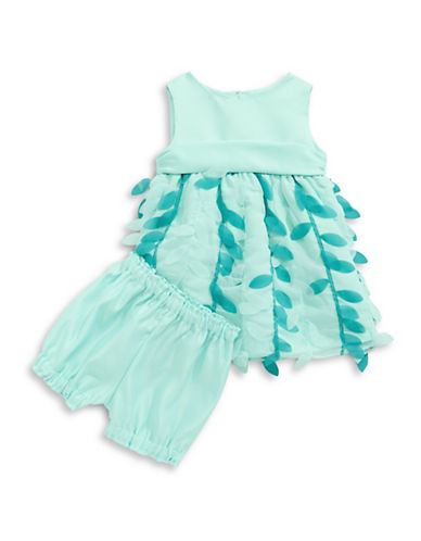 Princess Faith Two-Piece Petal Dress and Bloomer Set-GREEN-18 Months