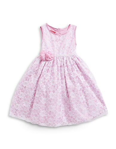 Princess Faith Sleeveless Lace Dress-ROSE-3