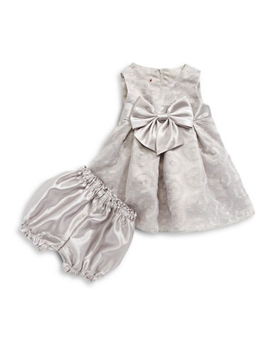 Princess Faith Embroidered Lace Dress-SILVER-12 Months