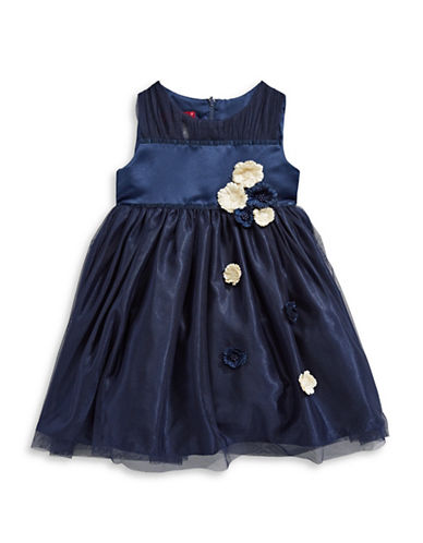 Princess Faith Flower Applique Dress-BLUE-2