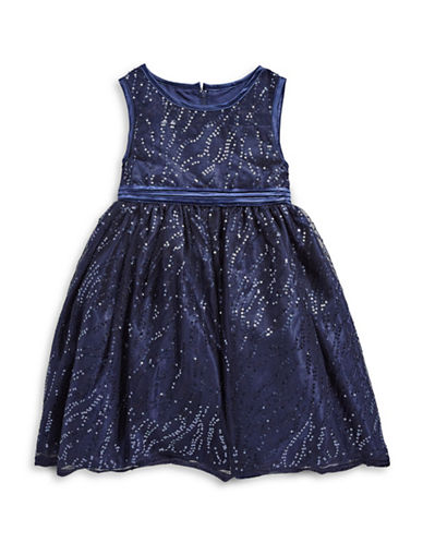 Princess Faith Sequined Dress-BLUE-3