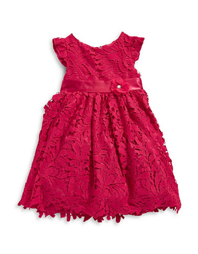 Princess Faith Floral Lace Dress-RED-5