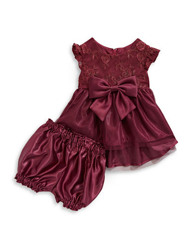 Princess Faith Lace Bodice Dress-RED-18 Months
