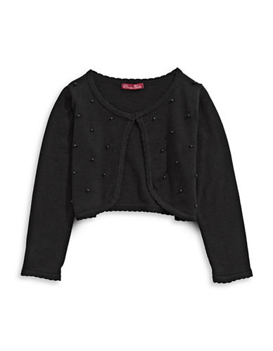 Princess Faith Cotton Long Sleeve Cardigan-BLACK-2