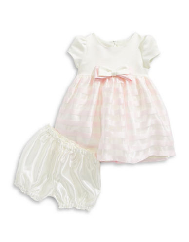 Princess Faith Two-Piece Solid Bodice and Bloomers Set-WHITE-24 Months