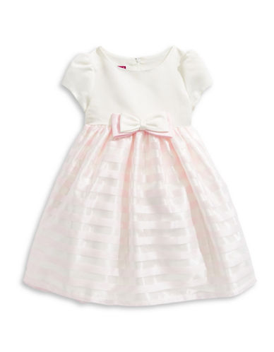 Princess Faith Shadow Stripe Dress-IVORY-6