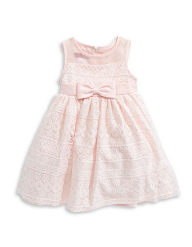 Princess Faith Illusion Neck Lace Dress-PINK-3