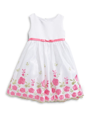 Princess Faith Embroidered Floral Dress-WHITE-2
