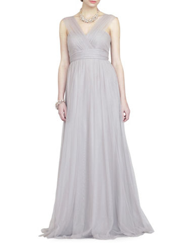 Jenny Yoo Annabelle Convertible Tulle Gown-MINK GREY-2