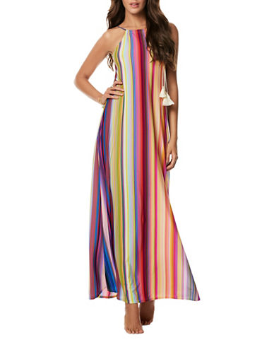 Pily Q Reign Long Cover-Up Dress-PINK MULTI-X-Small/Small