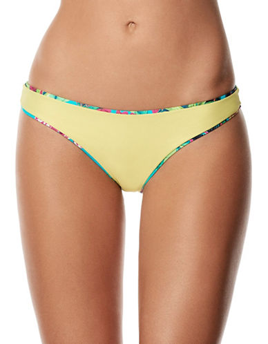 Pily Q Reversible Basic Teeny Bikini Bottoms-TURQUOISE MULTI-Large