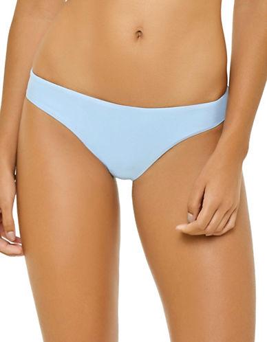 Pily Q Basic Ruched Bikini Bottom-BLUE-Medium D